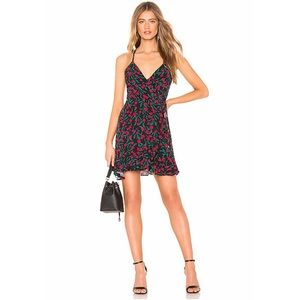 Lovers + Friends Gigi Wrap Dress in Rosebud